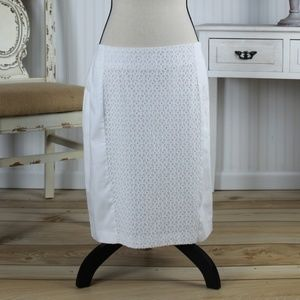 Apt 9 White Lacy Skirt Size 16